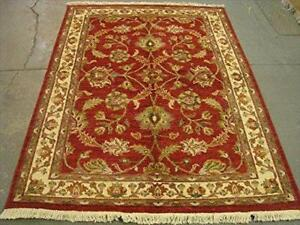 Chobi Zeigler Mahal Exclusive Designed Rare Vege Dyed Area Rugs Hand Knotted Carpet (7.4 x 5.6)'