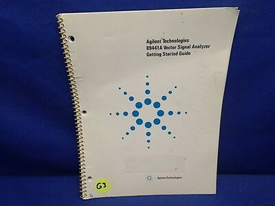 Agilent 89441a Vector Signal Analyzer Getting Started Guide