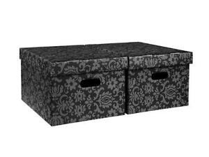 cardboard storage boxes ebay. Black Bedroom Furniture Sets. Home Design Ideas