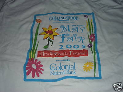 For sale COLLINGSWOOD NEW JERSEY MAY FAIR T-SHIRT ARTS & CRAFTS