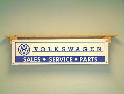 Volkswagen Workshop Banner retro sales service and parts pvc sign VW garage