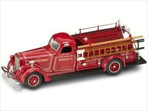 1939 AMERICAN LAFRANCE B-550RC FIRE ENGINE RED 1/43 MODEL ROAD SIGNATURE 43007