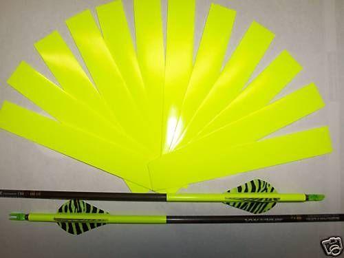1 Dozen FLO/FLUORESCENT YELLOW ARROW WRAPS + EXTRAS!!! *Multiple Sizes Avail*
