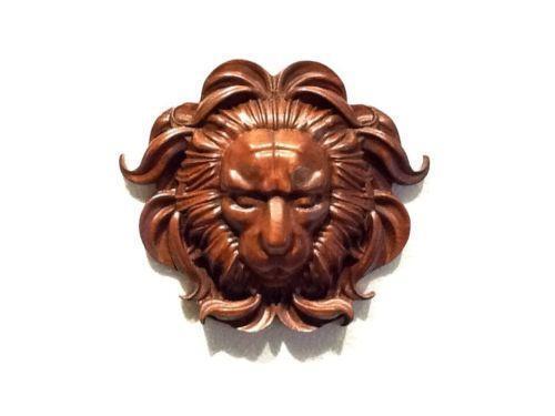 Wood Carved Lion Head Ebay