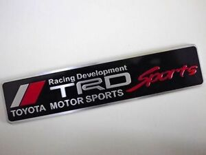 Toyota TRD Sports Embossed Metal Badge Emblem Sticker Logo 86 Corolla Yaris Rav4