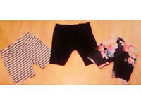 Child Girl's Set of 3 Assorted Stretchy Shorts.Age 3 Years Old.