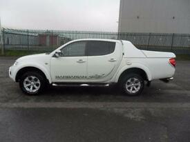 MITSUBISHI L200 BARBARIAN AUTO 4X4 DIESEL SKI BACK SAT NAV LEATHER IN WHITE