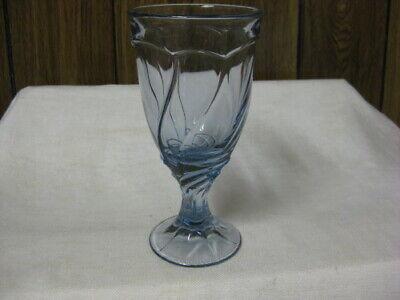 8 Noritake Light Blue Sweet Swirl Iced Tea Goblets 7 3/8