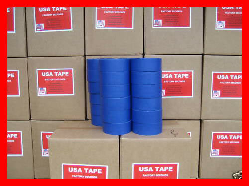 """24 Rolls 2"""" X 60 Yrds Blue Painters Masking Tape QUICK SHIP!"""