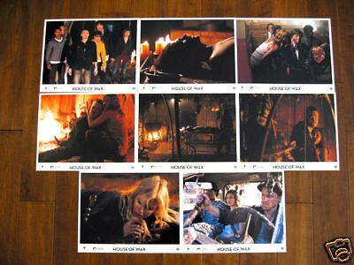 HOUSE OF WAX LOBBY CARDS in Spanish, SET OF 8, PARIS HILTON HORROR, Halloween