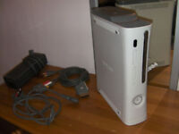 Microsoft XBOX 360 Console + Power Supply + Cables Excellent Conditon !