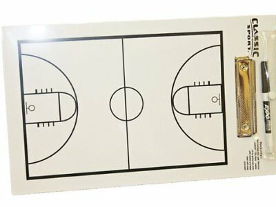 NEW Sportcraft Basketball Coaching Coach Dry Erase Board w/Marker