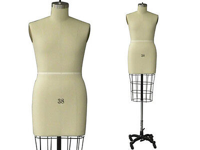 Professional Pro Working Dress Form Mannequin Male Half Size 38 Whip