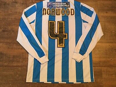 2012 2013 Huddersfield Norwood No 4 L/s Football Shirt Small Jersey Maglia image