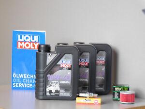 Wartungs Set Adly Interceptor 300 XS 300Inspektion Ölfilter Getriebeöl Kerze Öl