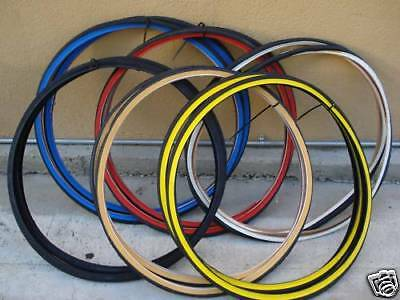 TWO- 26X1 3/8 COLOR WALL BIKE BICYCLE Classic 3 speed ROAD BIKE TIRES + 2 Tubes