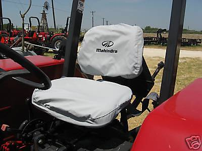 Mahindra Tractor Seat Cover Gray -small Back Rest