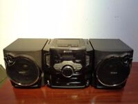 sony boombox SS-CRS1D CD DVD MP3 CASSETTE PLAYER RADIO XVID player
