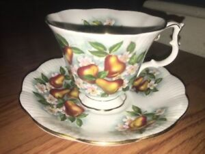 Royal Albert Harvest Pear Teacup and Saucer