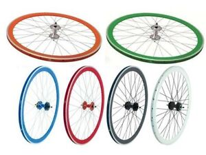 GUARNITURA-SINGLE-SPEED-PROWHEEL-URBAN-RUOTE-SCATTO-FISSO-FIXED-BICICLETTA-BICI