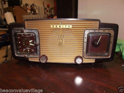Zenith L520F Clock Radio Green Vintage 1950s |Zenith Clock Radio