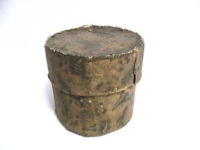 Antike BUNTPAPIER DOSE um 1750 vermutlich AUGSBURG