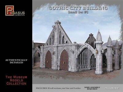 Pegasus Models 4924 Gothic City Building Small Set  28mm scale Plastic Model Kit