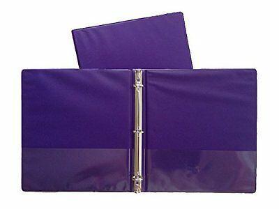 Purple Vinyl Standard 3-ring Binders 1-inch For 8.5 X 11 Sheets 4 Pack