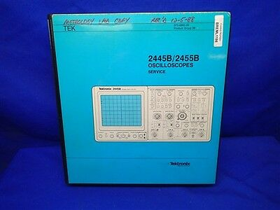 Tektronix 2445b2455b Oscilloscopes Service Manual Binder Format