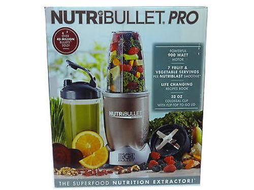 NutriBullet Pro 900W Single Speed Countertop Blender - 9 Piece Set - NB90901