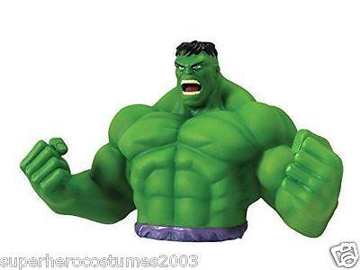 The Avengers Incredible Hulk Bust Bank Marvel Comics Piggy Bank NEW