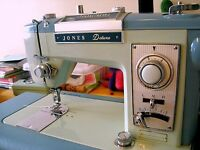 Jones deluxe sewing machine and table