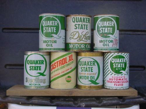 Vintage quaker state oil can ebay for Quaker state motor oil history