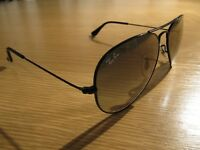 AUTHENTIC ~ Ray Ban AVIATOR ~ LARGE RB 3025 002/32 55014 2N + TOUGH HOLIDAY CASE