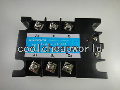 Three Phase 3 Phase Dc Ac Solid State Relay Ssr-25a 25a 480vac