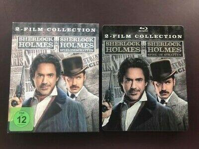 Sherlock Holmes 1+2 (Limited Edition Steelbook) Blu Ray Box mit Pappschuber ()