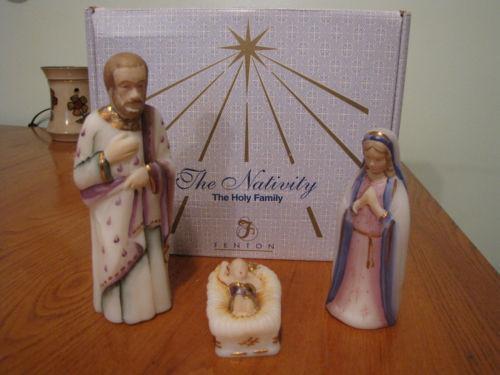 Glass Nativity Set Ebay