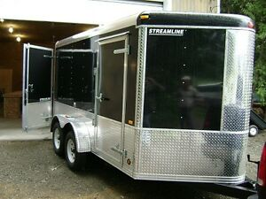 Used 15 foot V-Nose Tandam with interior shelving