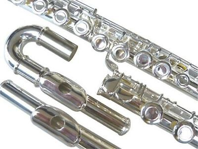 NEW Curved&Straight Head SILVER FLUTE APPROVED+WARRANTY.