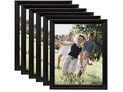 MCS 4x6 Solid Wood Value Picture Frame Black 6 Pack