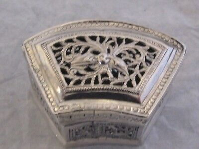 STERLING SILVER BOX FOR GRILLON SIAM THAILAND CAMBODIA CHINA CHINESE SILVER