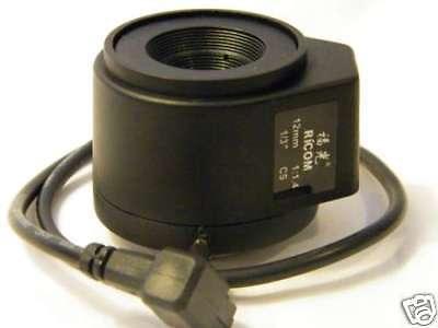 Ricom 12MM CS Mount DC Drive Auto-Iris (12mm Dc Auto Iris)