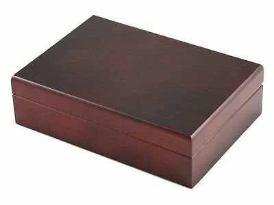 - Cherry Wood Finish Spanish Cedar Stash Box - Lid with Magnet