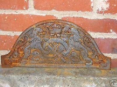 Zunftschild Bäcker Bäckerei Wappen Schild Bäckerschild Guss rost alt 40x18 cm