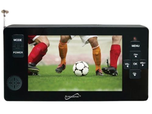 """Supersonic SC-143 4.3"""" LED Portable/Pocket TV +Rechargeable/"""