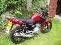 Yamaha YBR125 bike low mileage