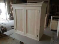 Solid pine kitchen wall cupboard (painted)