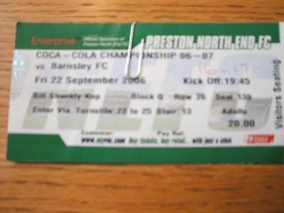 22/09/2006 Ticket: Preston North End v Barnsley  (Creas
