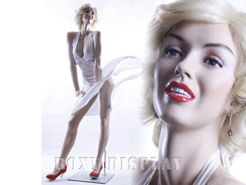 Sexy Female Fiberglass Mannequin Marilyn Monroe Style Dress Form #MZ-MONROE1