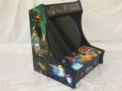 "Mortal Kombat BarTop Mini 19"" Monitor Upright Arcade Game Multicade 800+ games"
